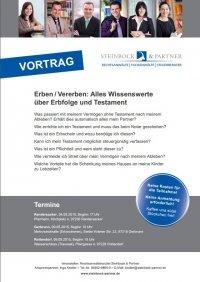 Vortrag Erben/Vererben alles Wissenswerte über Erbfolge und Testament