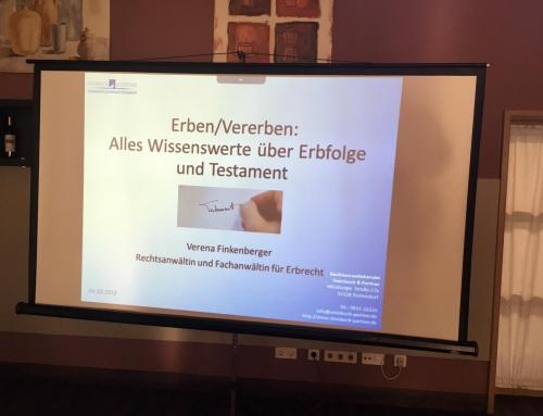 Rechtsanwältin Finkenberger referierte über das Erben und Vererben in Kürnach