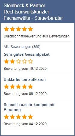 Anwalt.de Bewertungen Steinbock & Partner