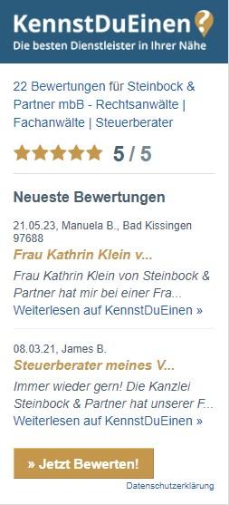 KennstduEinen-Bewertungen-Steinbock-Partner-
